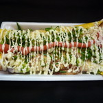 いか焼 やきや - めんたいねぎマヨ(明太子とネギ、マヨネーズのコラボが最高の味です。)贅沢なひと品です!