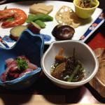 かねいし旅館 - 前菜と もずく酢 こんにゃくと梅肉の和え物☆*:.。. o(≧▽≦)o .。.:*☆