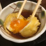 丸亀製麺 - 黄身はトロトロ〜