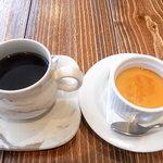 ビストロ グーテ - レディースランチのデザートとランチのコーヒー
