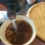 そば明水 - 蕎麦湯