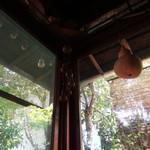 手ぬぐいカフェ 一花屋 - ひょうたん吊るし