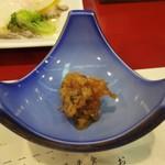 むさし - 先附:金山寺味噌。