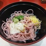 むさし - 蓋物:梅紫蘇麺 の蓋を開けたところです。