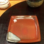 江戸前晋作 - 天ぷらを塩で食べる時の皿