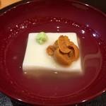 江戸前晋作 - 蒸し胡麻豆腐(アップ)