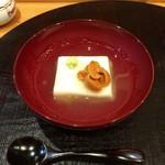 江戸前晋作 - 蒸し胡麻豆腐