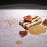エクアトゥール - 2016.11 ブルーチーズと胡桃のテリーヌ仕立て 洋梨のコンポートと無花果