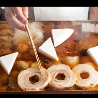 店の根幹「だし」は、削り節ほか5種類の食材を絶妙にブレンド