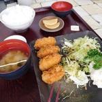 レストラン北斗庵 - 牡蛎フライ定食