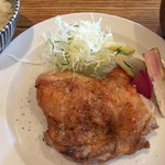 肉洋食オオタケ - 肉好きのためのお肉セット(ランチ、ローストチキン)