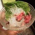 近江牛と地元野菜 ダイニングMOO - 付け合わせ野菜 しおれすぎ