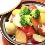 郷土料理 竹の子 - 10種類の温野菜