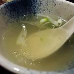 牛たん焼き仙台 辺見 - テールスープ接写。