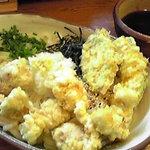 5854185 - 鶏天ぶっかけ ゴロゴロ鶏天がボリューミー&ジューシー♡