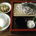 青ごしょう - 料理写真:ざるそば定食@850