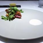 レストランディファランス - 黒鶏 蛸 クレソン 筍 フロマージュブラン