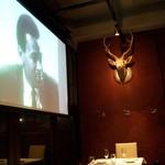 リストランテ ワイン屋 - 鹿が見てます
