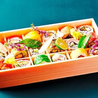 【テイクアウトも】手土産にもぴったりなひとくちロール寿司