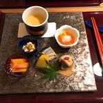 菜ころ - 前菜 小茶碗と口取り六品