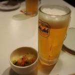 ろばた屋ユメノスケ - ★生ビール&付け出し