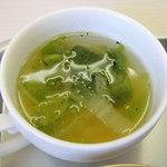 おかけや - 本日の無料の小鉢は白菜スープ