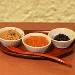 米福 - お供三種盛り