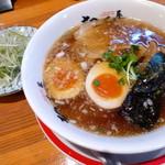 58551540 - ねぎそば(800円)+半麺(ー200円)+味玉(100円)=700円!!