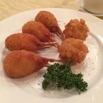Ryuuhou - かに爪フライと、魚介のトースト揚げ