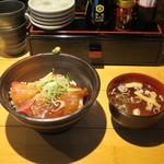 魚武酒場 - ぶりとマグロのづけ丼