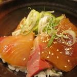 魚武酒場 - ぶりとマグロのづけ丼アップ
