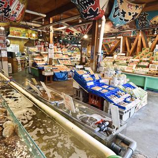 生簀から新鮮な魚介をそのまま楽しめます!
