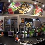 青森バルわいはー - 平成28年度に使用したねぶたの絵を店内に使用しています、本格なねぶたの雰囲気でお食事をお楽しみください!