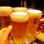 uomori - 生ビールで乾杯