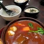 58561916 - 牛タントロシチュー¥580&とろろご飯セット¥590