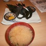 第8八千代丸 - おむすび・後造り皮ハギ味噌汁(H.28.11)