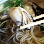 岩手屋 - 牡蠣そば(2016.11)