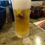 ラーメン道楽 - グラスビール
