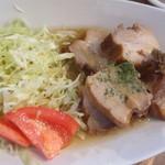 みーとカフェ 池袋店 - 豚バラ肉黒ビールラグー(ランチプレート)