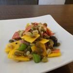 Cara île grano - スペルト小麦とレンズ豆のサラダ