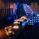 吉祥寺庭宴 - 池のほとり…茅葺屋根のテーブル個室