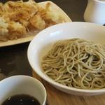蕎麦DAYS - 十割蕎麦のもりそばと玉ねぎ天ぷら