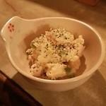 ワインと日本酒、時々シェリー - 枝豆と鳥ハムのポテサラ