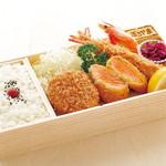 ジャンボ海老まるやま門田店 - サーモンミックス弁当 1,480円+税