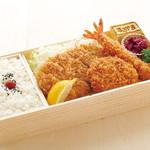 ジャンボ海老まるやま門田店 - ごちそうミックス弁当 1,680円+税