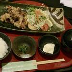 町家かふぇ祇園 - 竜田揚げ定食980円