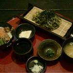 祇園 - ミニ角煮丼と抹茶蕎麦デザート付き980円