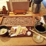 58580751 - 野菜の天ぷらそば切り(細打ち)1,188円
