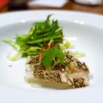 銀座夜市 - 炙り真鯛のカルパッチョ