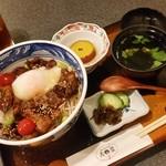 さつま黒豚と郷土料理 青葉 - 指宿のご当地グルメ「温たまらん丼 (900円)」